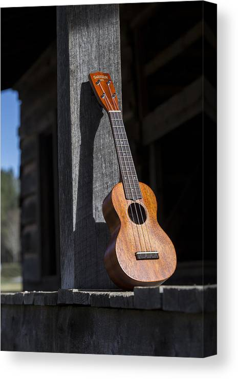 Ukulele Canvas Print featuring the photograph Travel Light by Keith May