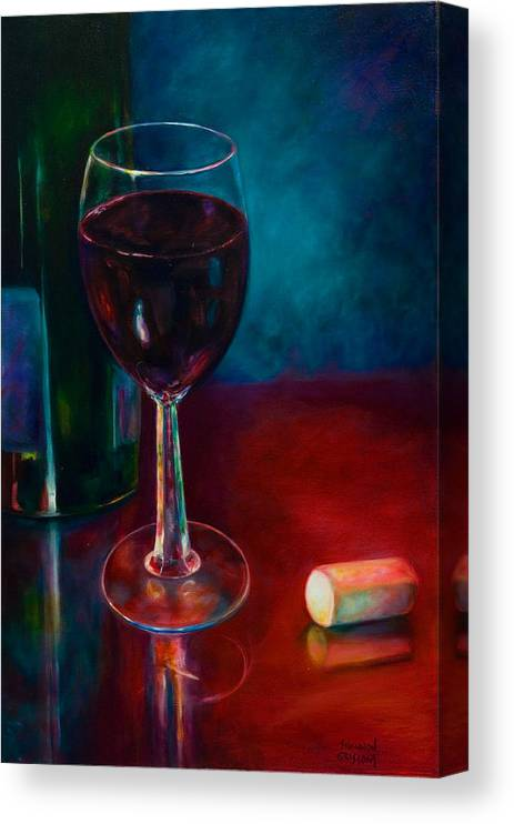 Wine Bottle Canvas Print featuring the painting Zinfandel by Shannon Grissom