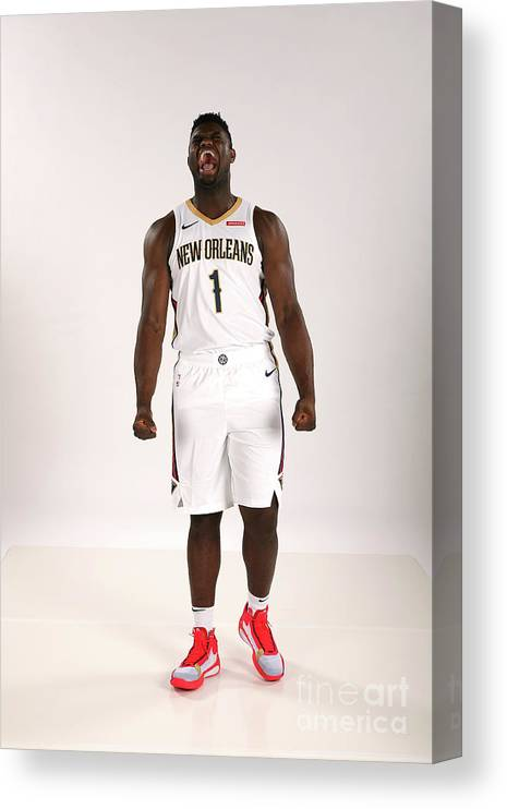Media Day Canvas Print featuring the photograph 2019-20 New Orleans Pelicans Media Day by Layne Murdoch Jr.