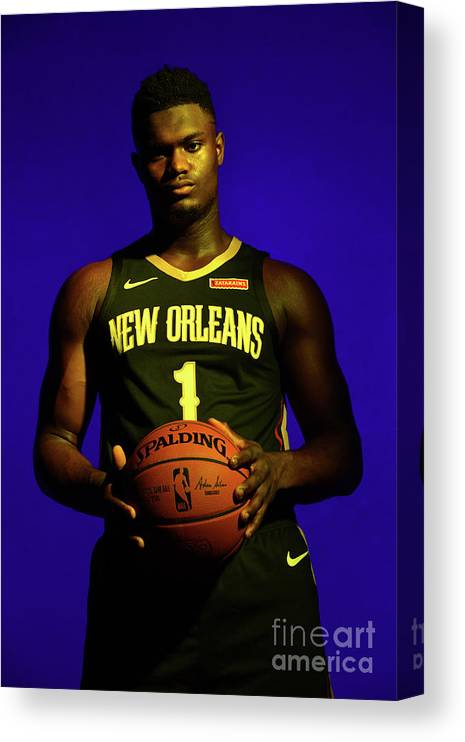 Nba Pro Basketball Canvas Print featuring the photograph 2019 Nba Rookie Photo Shoot by Jesse D. Garrabrant