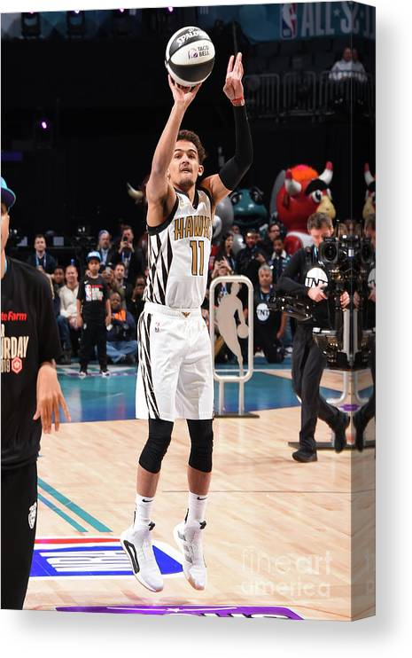 Nba Pro Basketball Canvas Print featuring the photograph 2019 Taco Bell Skills Challenge by Andrew D. Bernstein
