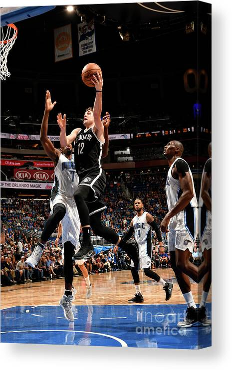 Nba Pro Basketball Canvas Print featuring the photograph Brooklyn Nets V Orlando Magic by Fernando Medina