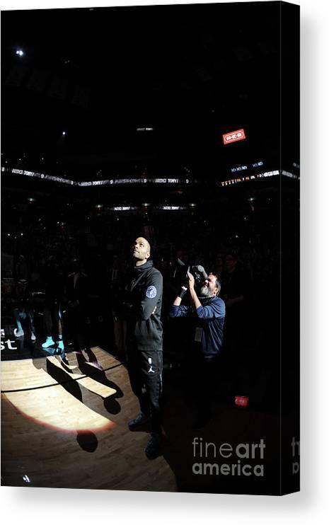 Nba Pro Basketball Canvas Print featuring the photograph Charlotte Hornets V San Antonio Spurs by Mark Sobhani