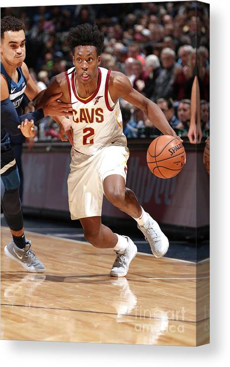 Nba Pro Basketball Canvas Print featuring the photograph Cleveland Cavaliers V Minnesota by David Sherman