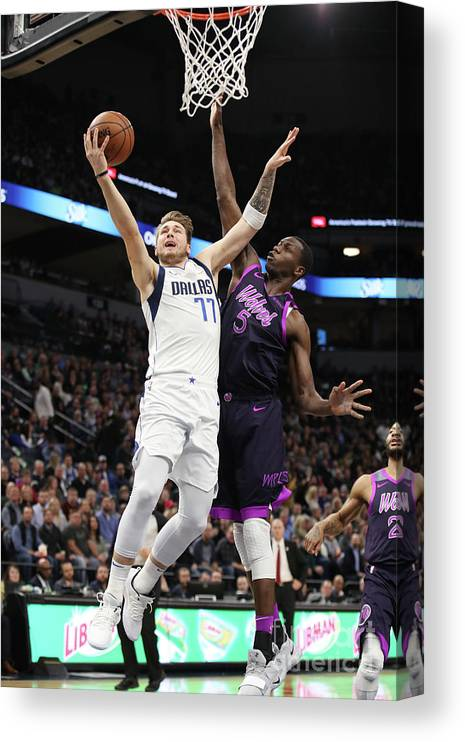 Nba Pro Basketball Canvas Print featuring the photograph Dallas Mavericks V Minnesota by Jordan Johnson