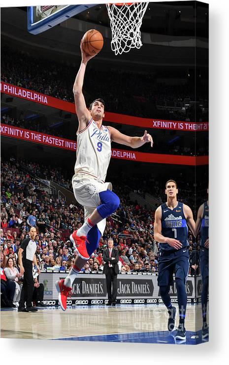 Sports Ball Canvas Print featuring the photograph Dallas Mavericks V Philadelphia 76ers by Jesse D. Garrabrant