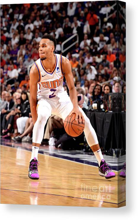 Nba Pro Basketball Canvas Print featuring the photograph Dallas Mavericks V Phoenix Suns by Barry Gossage