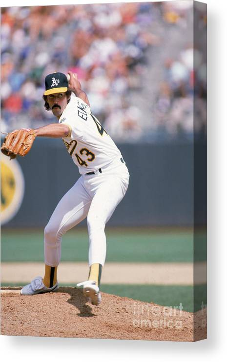 1980-1989 Canvas Print featuring the photograph Dennis Eckersley by Otto Greule Jr