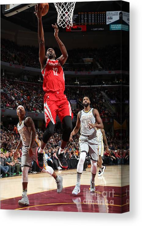 Nba Pro Basketball Canvas Print featuring the photograph Houston Rockets V Cleveland Cavaliers by Joe Murphy