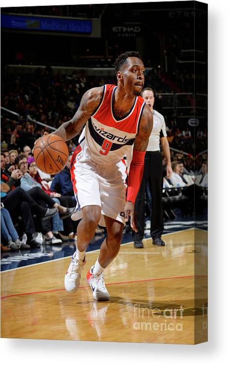 Nba Pro Basketball Canvas Print featuring the photograph Indiana Pacers V Washington Wizards by David Dow