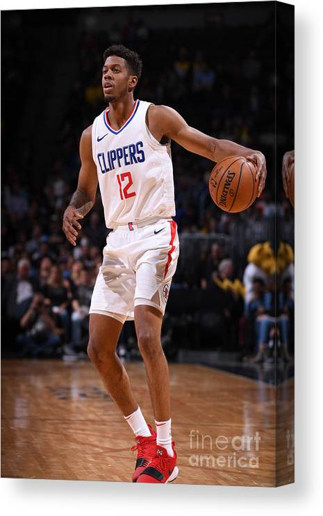 Nba Pro Basketball Canvas Print featuring the photograph La Clippers V Denver Nuggets by Garrett Ellwood