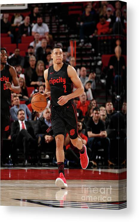 Nba Pro Basketball Canvas Print featuring the photograph La Clippers V Portland Trail Blazers by Cameron Browne