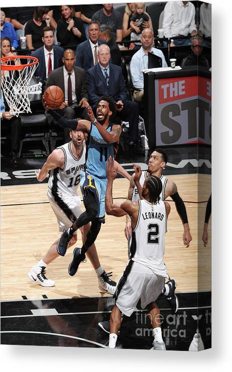 Playoffs Canvas Print featuring the photograph Memphis Grizzlies V San Antonio Spurs - by Joe Murphy