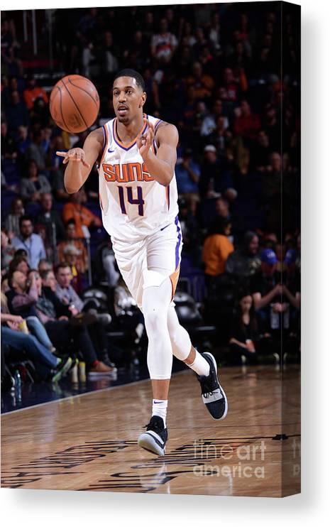 Nba Pro Basketball Canvas Print featuring the photograph Minnesota Timberwolves V Phoenix Suns by Michael Gonzales