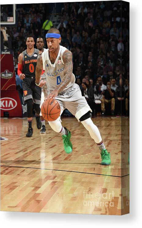 Event Canvas Print featuring the photograph Nba All-star Game 2017 by Andrew D. Bernstein