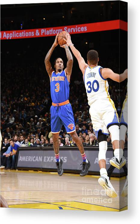 Nbaps Canvas Print featuring the photograph New York Knicks V Golden State Warriors by Andrew D. Bernstein