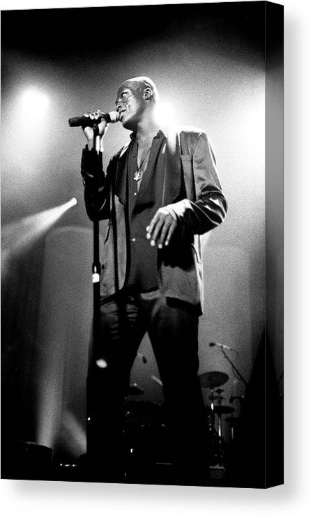 Music Canvas Print featuring the photograph Seal Hollywood Bowl 1995 by Martyn Goodacre