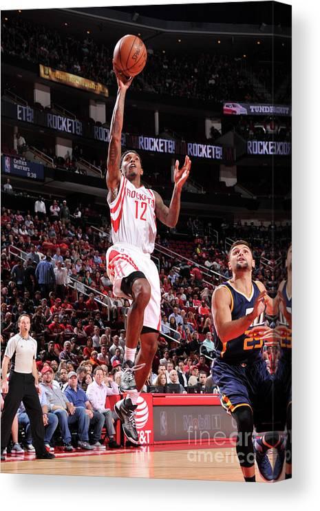 Nba Pro Basketball Canvas Print featuring the photograph Utah Jazz V Houston Rockets by Bill Baptist