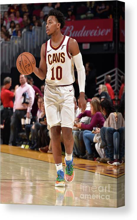 Nba Pro Basketball Canvas Print featuring the photograph Chicago Bulls V Cleveland Cavaliers by David Liam Kyle