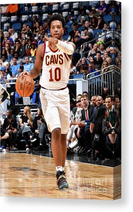 Nba Pro Basketball Canvas Print featuring the photograph Cleveland Cavaliers V Orlando Magic by Fernando Medina