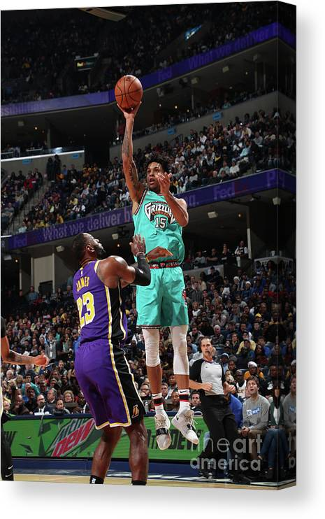 Nba Pro Basketball Canvas Print featuring the photograph Los Angeles Lakers V Memphis Grizzlies by Joe Murphy