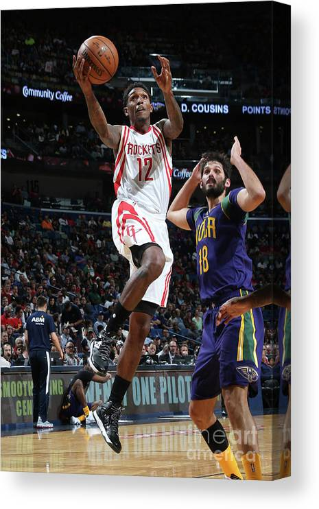 Smoothie King Center Canvas Print featuring the photograph Houston Rockets V New Orleans Pelicans by Layne Murdoch