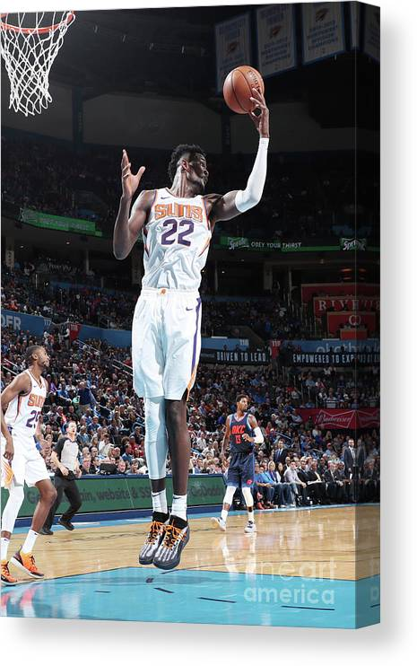 Nba Pro Basketball Canvas Print featuring the photograph Phoenix Suns V Oklahoma City Thunder by Joe Murphy