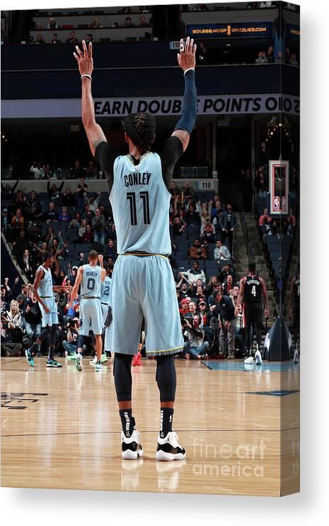 Nba Pro Basketball Canvas Print featuring the photograph Portland Trail Blazers V Memphis by Joe Murphy