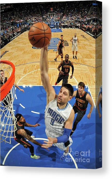 Nba Pro Basketball Canvas Print featuring the photograph Atlanta Hawks V Orlando Magic by Fernando Medina