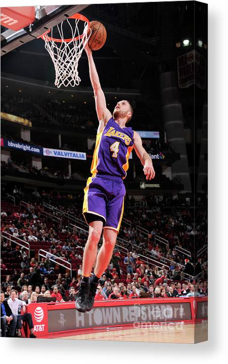 Nba Pro Basketball Canvas Print featuring the photograph Los Angeles Lakers V Houston Rockets by Bill Baptist