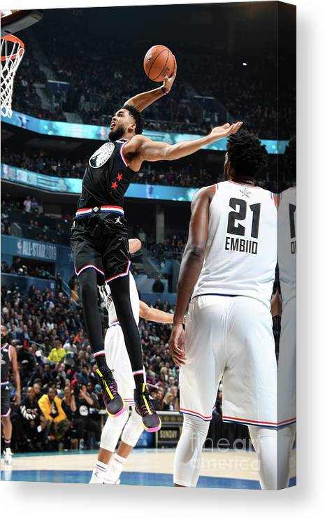 Nba Pro Basketball Canvas Print featuring the photograph 2019 Nba All-star Game by Andrew D. Bernstein