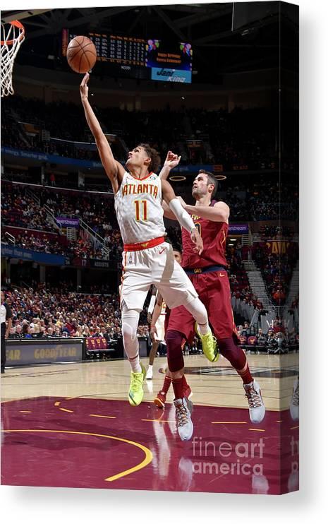 Nba Pro Basketball Canvas Print featuring the photograph Atlanta Hawks V Cleveland Cavaliers by David Liam Kyle