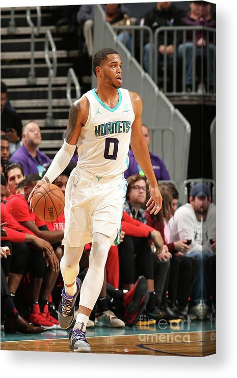 Nba Pro Basketball Canvas Print featuring the photograph Chicago Bulls V Charlotte Hornets by Kent Smith