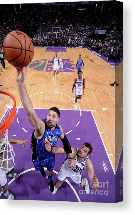 Nba Pro Basketball Canvas Print featuring the photograph Orlando Magic V Sacramento Kings by Rocky Widner