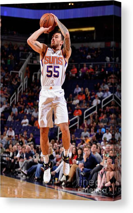Nba Pro Basketball Canvas Print featuring the photograph Sacramento Kings V Phoenix Suns by Barry Gossage