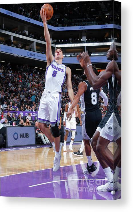 Nba Pro Basketball Canvas Print featuring the photograph San Antonio Spurs V Sacramento Kings by Rocky Widner