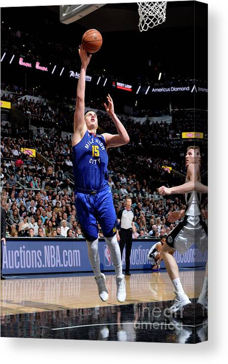 Playoffs Canvas Print featuring the photograph Denver Nuggets V San Antonio Spurs - by Mark Sobhani