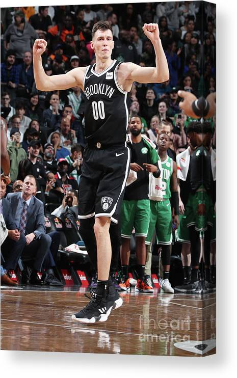 Nba Pro Basketball Canvas Print featuring the photograph Boston Celtics V Brooklyn Nets by Nathaniel S. Butler