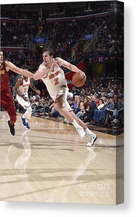 Nba Pro Basketball Canvas Print featuring the photograph New York Knicks V Cleveland Cavaliers by David Liam Kyle