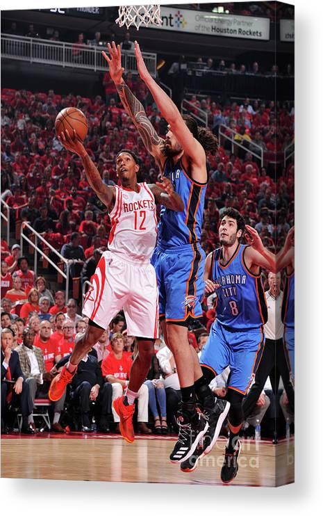 Playoffs Canvas Print featuring the photograph Oklahoma City Thunder V Houston Rockets by Bill Baptist