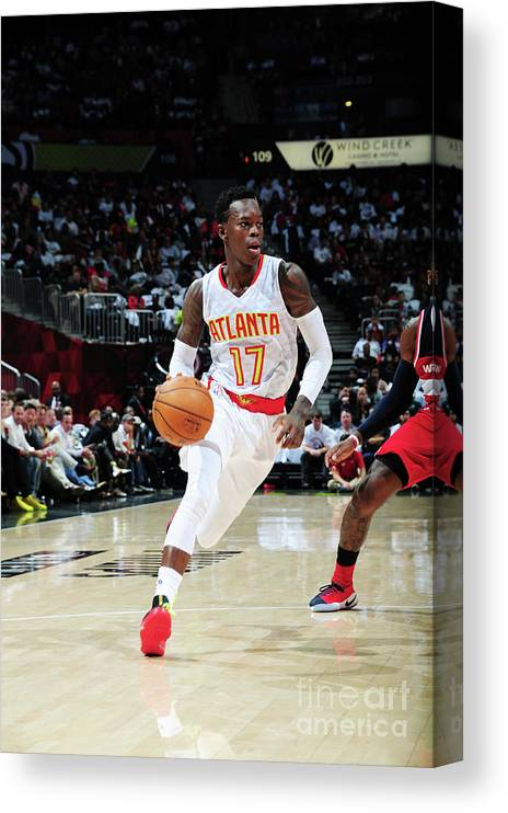 Atlanta Canvas Print featuring the photograph Washington Wizards V Atlanta Hawks by Scott Cunningham