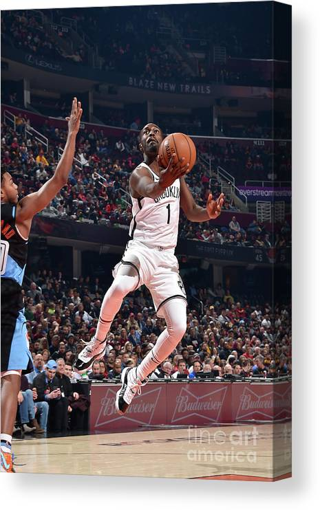 Nba Pro Basketball Canvas Print featuring the photograph Brooklyn Nets V Cleveland Cavaliers by David Liam Kyle