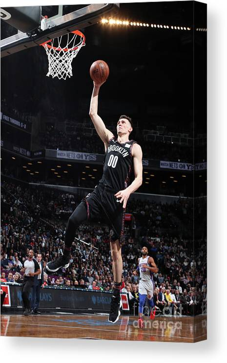 Nba Pro Basketball Canvas Print featuring the photograph Detroit Pistons V Brooklyn Nets by Nathaniel S. Butler
