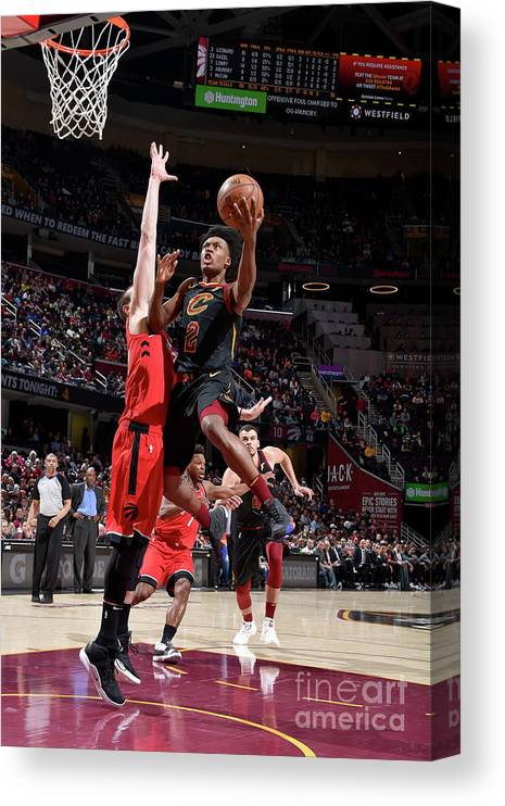 Nba Pro Basketball Canvas Print featuring the photograph Toronto Raptors V Cleveland Cavaliers by David Liam Kyle