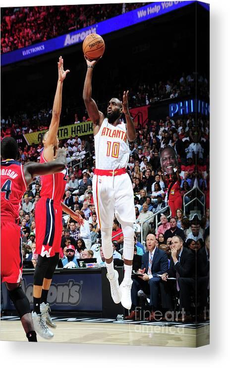 Atlanta Canvas Print featuring the photograph Washington Wizards V Atlanta Hawks by Scott Cunningham