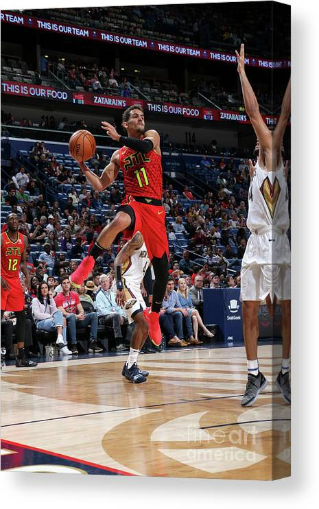 Smoothie King Center Canvas Print featuring the photograph Atlanta Hawks V New Orleans Pelicans by Layne Murdoch Jr.