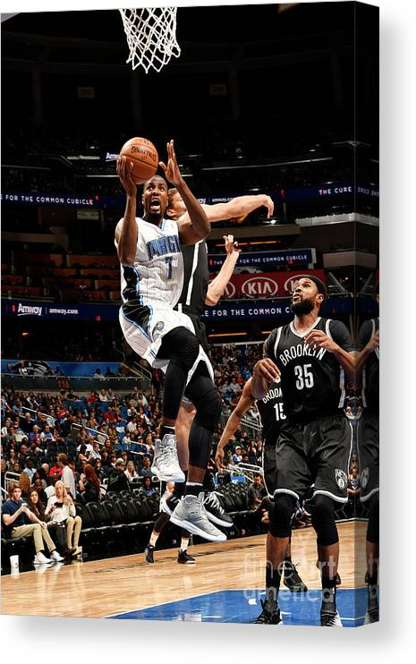 Nba Pro Basketball Canvas Print featuring the photograph Brooklyn Nets V Orlando Magic by Fernando Medina