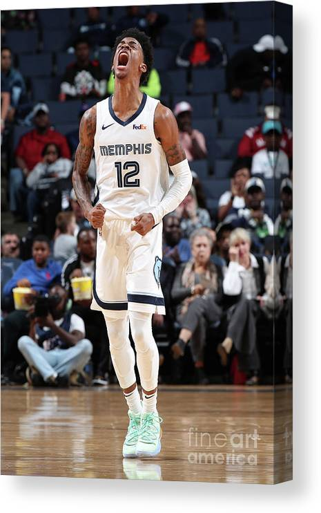 Nba Pro Basketball Canvas Print featuring the photograph Charlotte Hornets V Memphis Grizzlies by Joe Murphy