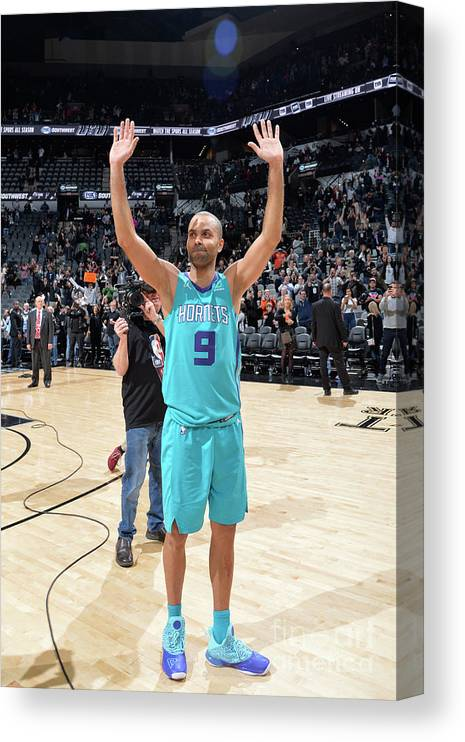 Crowd Canvas Print featuring the photograph Charlotte Hornets V San Antonio Spurs by Mark Sobhani
