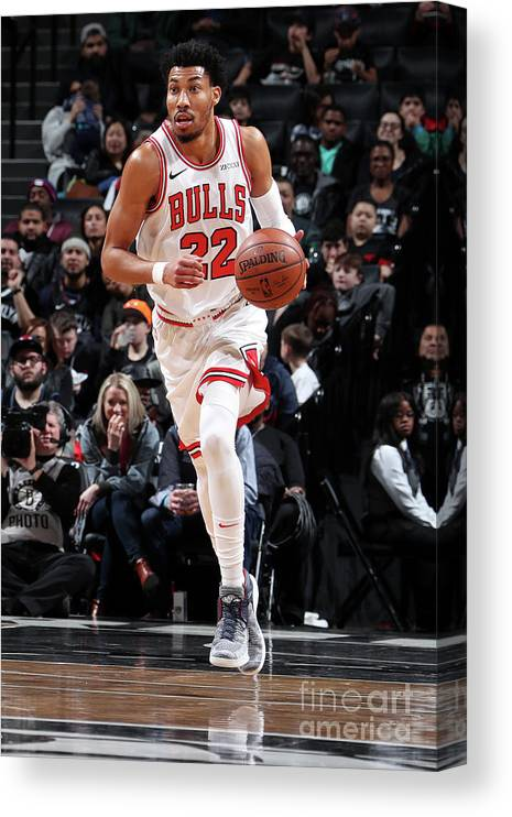 Chicago Bulls Canvas Print featuring the photograph Chicago Bulls V Brooklyn Nets by Nathaniel S. Butler